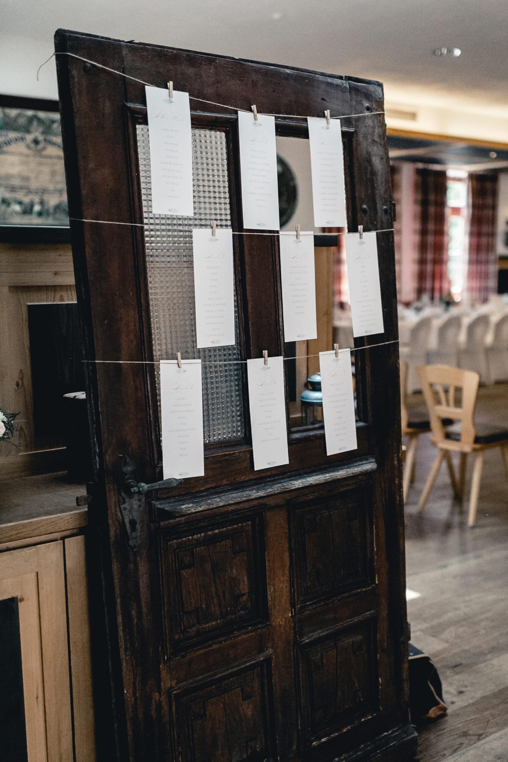 HeimArt Design Tischplan Sitzplan Karte Namensschilder Vintage Hochzeit Papeterie Kirschblüten