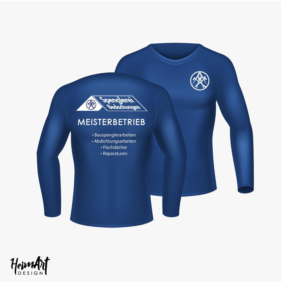 Spenglerei Bedachungen Nico Meisterbetrieb Arbeitskleidung bedruckt blau