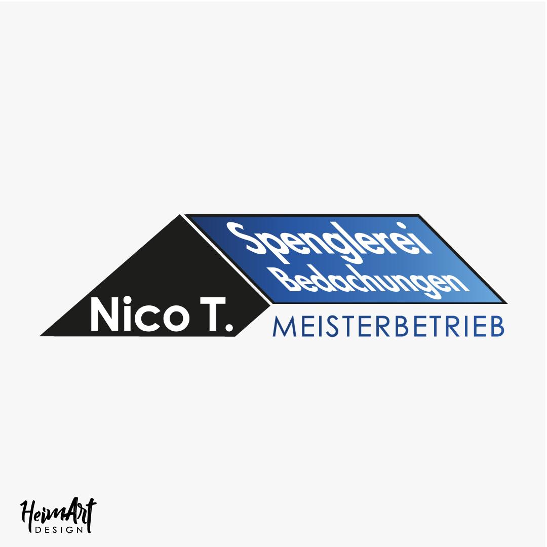 Spenglerei Bedachung Nico Logo Dach blau